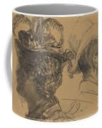 Heads Of A Man And A Woman Coffee Mug