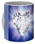 Heart Diamond Coffee Mug by Setsiri Silapasuwanchai