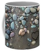 Heart In The Sand Coffee Mug
