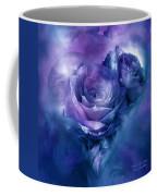 Heart Of A Rose - Lavender Blue Coffee Mug