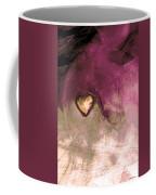 Heart Of Gold Coffee Mug by Linda Sannuti