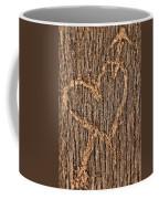 Heart On A Bench Coffee Mug
