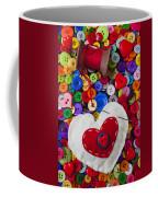 Heart Pushpin Chusion  Coffee Mug
