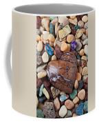 Heart Stone Among River Stones Coffee Mug