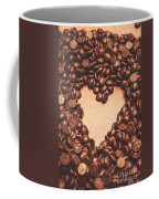 Hearts And Chocolate Drops. Valentines Background Coffee Mug