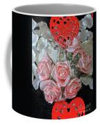 Hearts And Roses Coffee Mug