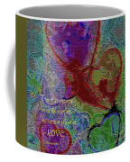 Hearts Knit Together In Love Coffee Mug