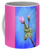 Nature Botanical Floral Pink Flowers Geranium Blooms  Coffee Mug