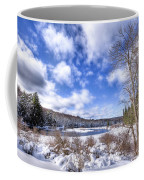Heavy Snow At The Green Bridge Coffee Mug