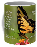 Hebrews Scripture Butterfly Coffee Mug