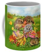 Hedgehogs Inside Scarf Coffee Mug