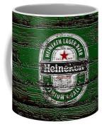 Heineken Beer Wood Sign 2 Coffee Mug