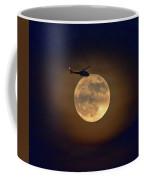 Helicopter Moon And Clouds I Coffee Mug