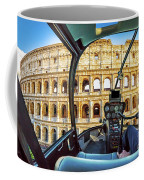 Helicopter On Colosseo Coffee Mug