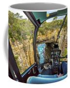 Helicopter On Tasman Arch Coffee Mug