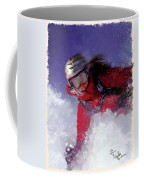 Hell Bent For Powder Coffee Mug by Colleen Taylor