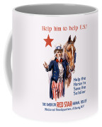Help The Horse To Save The Soldier Coffee Mug by War Is Hell Store