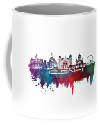 Helsinki Skyline City Blue Coffee Mug