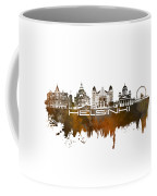 Helsinki Skyline City Brown Coffee Mug