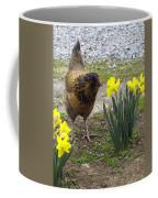 Hen And Daffodils Coffee Mug