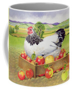 Hen In A Box Of Apples Coffee Mug by EB Watts