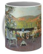 Henri Martin 1860 - 1943 Tea Time On The Terrace Marquayrol Coffee Mug