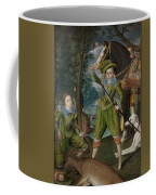 Henry Frederick 15941612 Prince Of Wales With Sir John Harington 15921614 In The Hunting Field Coffee Mug
