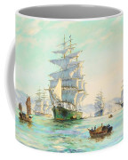 Tranquil Morning - Foochow, The Famous Clipper Thermopylae At Anchor Coffee Mug