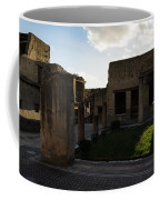 Herculaneum Ruins - Mosaic Tile Streets And Sun Splashes Coffee Mug