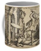 Hercules Killing Cacus At His Cave Coffee Mug