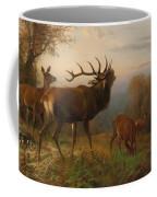 Herd Of Red Deer Coffee Mug