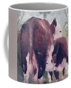 Hereford Cow Calf Coffee Mug