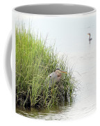 Heron And Cormorant Coffee Mug