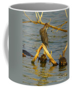 Heron And Turtle Coffee Mug