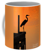 Heron At Sunset Coffee Mug