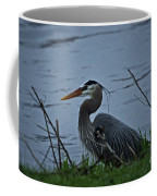 Heron At The Rock River Coffee Mug