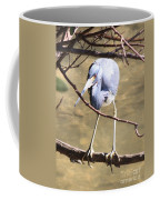 Heron On Branch Coffee Mug