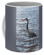 Heron On  Lake Guntersville Coffee Mug
