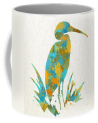 Heron Watercolor Art Coffee Mug