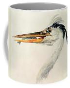 Heron With A Fish Coffee Mug