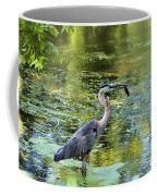 Heron With Fish Coffee Mug