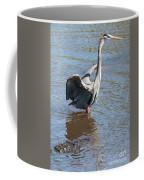 Heron With Gator Coffee Mug