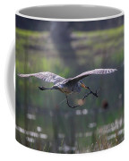 Heron With Nesting Material Coffee Mug