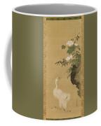 Herons And Cotton Roses Coffee Mug