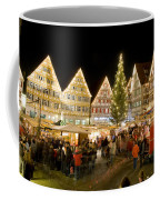 Herrenberg Christmas Market At Night Coffee Mug by Greg Dale