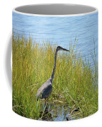 Herron In The Grasses Coffee Mug