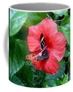 Hibiscus And Butterfly Diners Coffee Mug