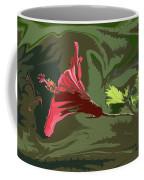 Hibiscus Dark And Light Photopainting 1 Coffee Mug