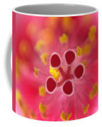 Hibiscus Macro Abstract Coffee Mug