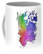 Hibiscus S D Z 2 Cool Rainbow 3 Dimensional Coffee Mug
